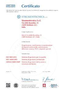 Certificato SQS ISO 9001-14001-18001